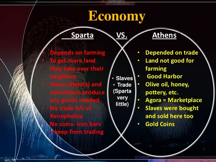 spartan economy About both athens and sparta hold historic value for greece and the world athens is the capital and the largest city of greece it is a center for economic, political, financial and culture life in greece.