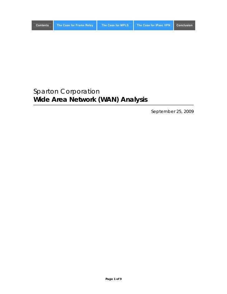 Sparton Corp WAN Analysis