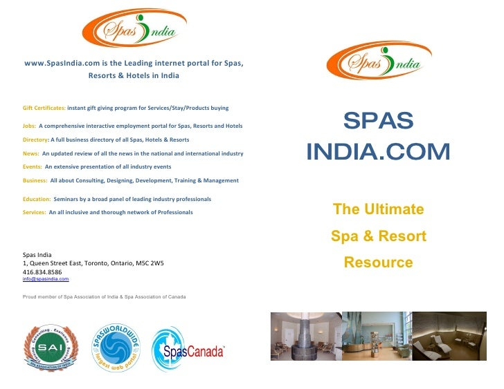 www.SpasIndia.com is the Leading internet portal for Spas,                Resorts & Hotels in India   Gift Certificates: i...