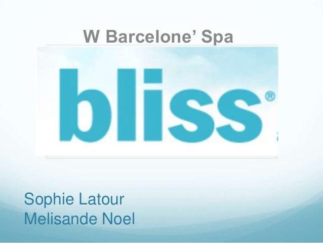 Bliss Barcelona - Spa solomo