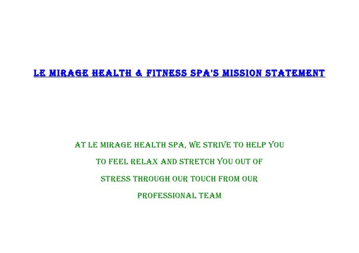 Spa sop for A mission statement for a beauty salon