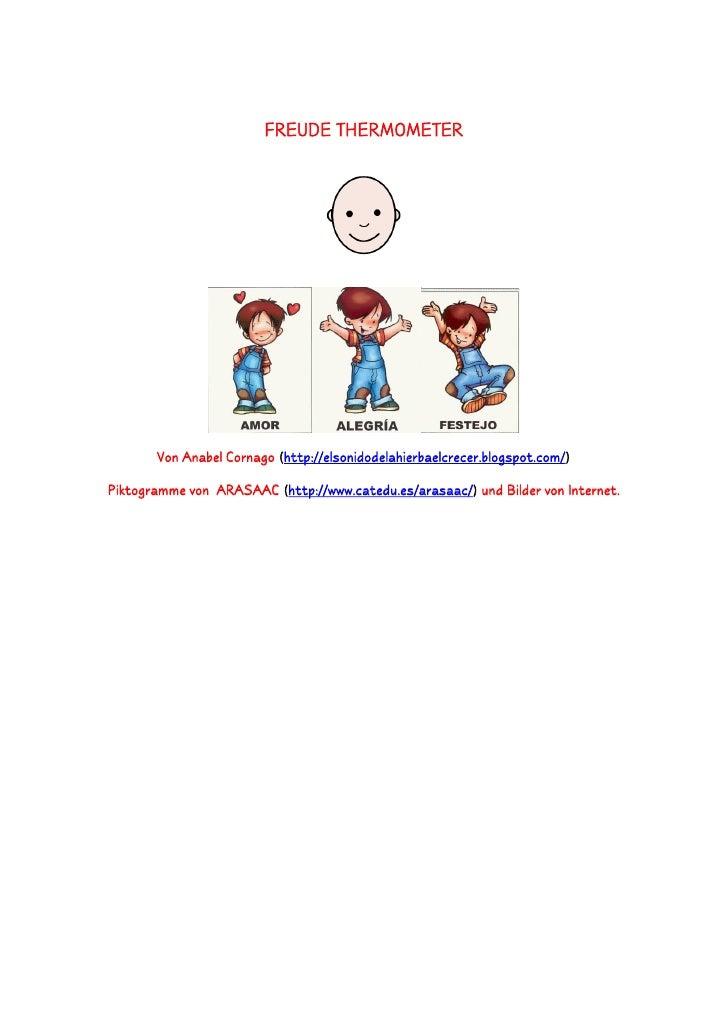 FREUDE THERMOMETER            Von Anabel Cornago (http://elsonidodelahierbaelcrecer.blogspot.com/)  Piktogramme von ARASAA...