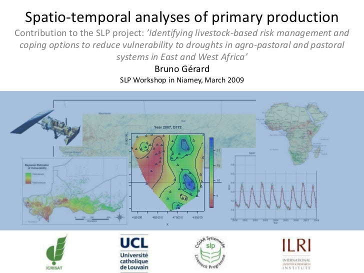 Spatio-temporal analyses of primary production