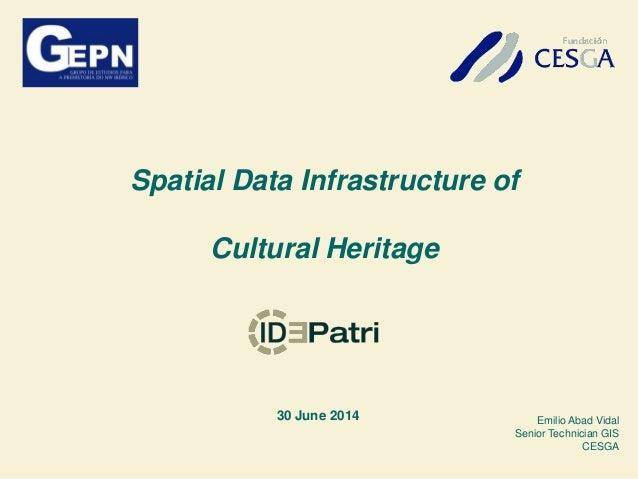 Spatial data infraestructure ID-Patri