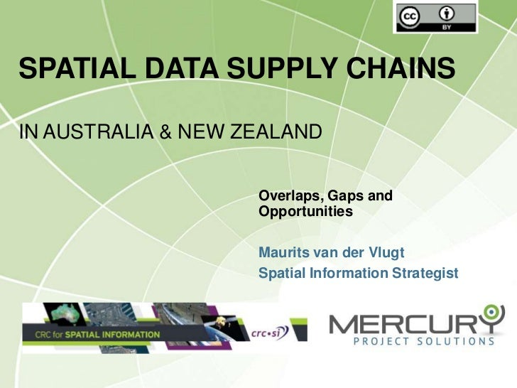 SPATIAL DATA SUPPLY CHAINSIN AUSTRALIA & NEW ZEALAND                    Overlaps, Gaps and                    Opportunitie...