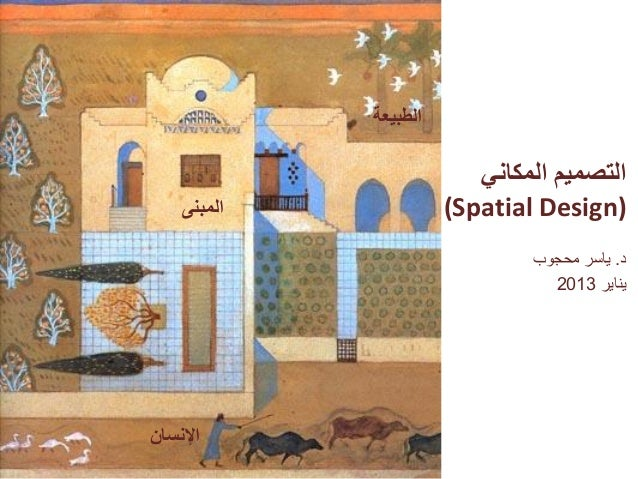 الطبيعة                          التصميم المكاني    المبنى             )(Spatial Design                         ...