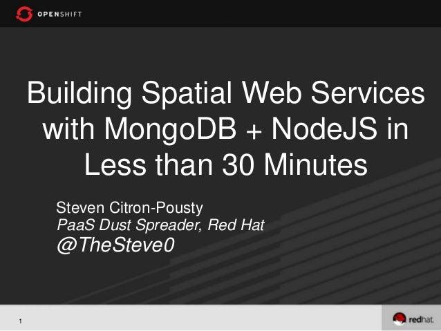 Spatial MongoDB, Node.JS, and Express - server-side JS for your application