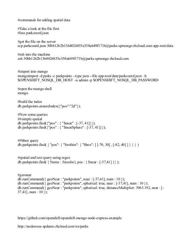 Spatial script for MongoBoulder