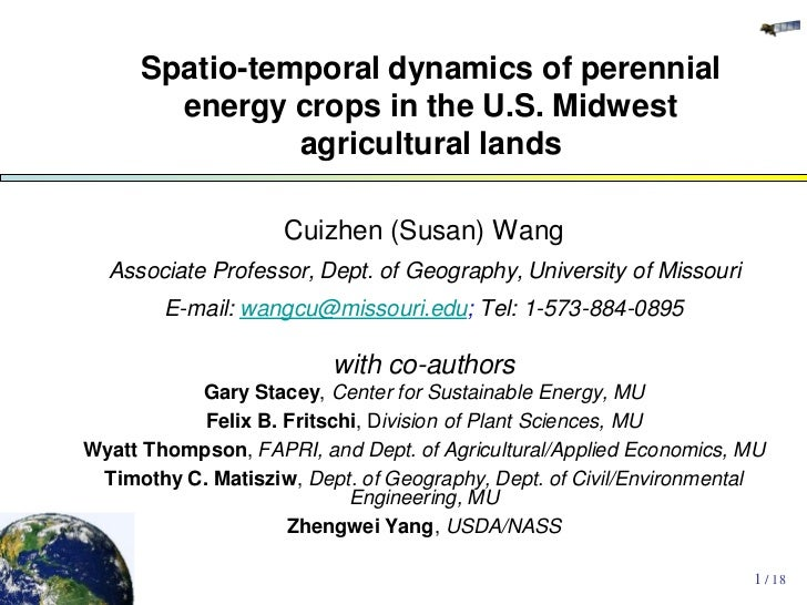Spatio-temporal dynamics of perennial       energy crops in the U.S. Midwest               agricultural lands             ...