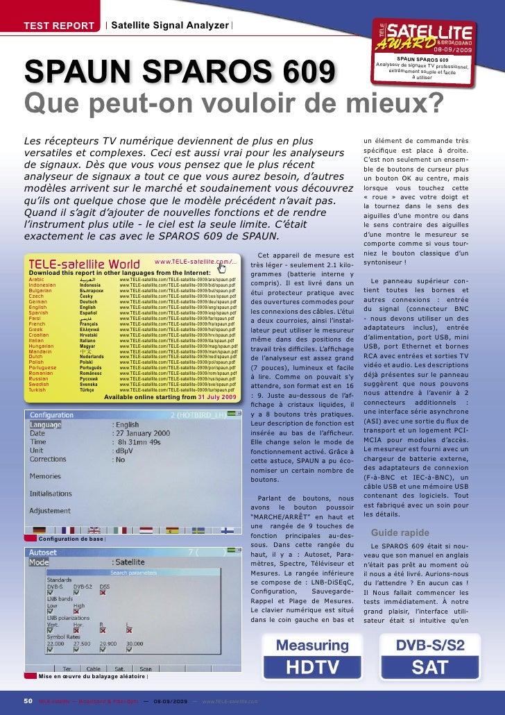 TEST REPORT                       Satellite Signal Analyzer                                                               ...