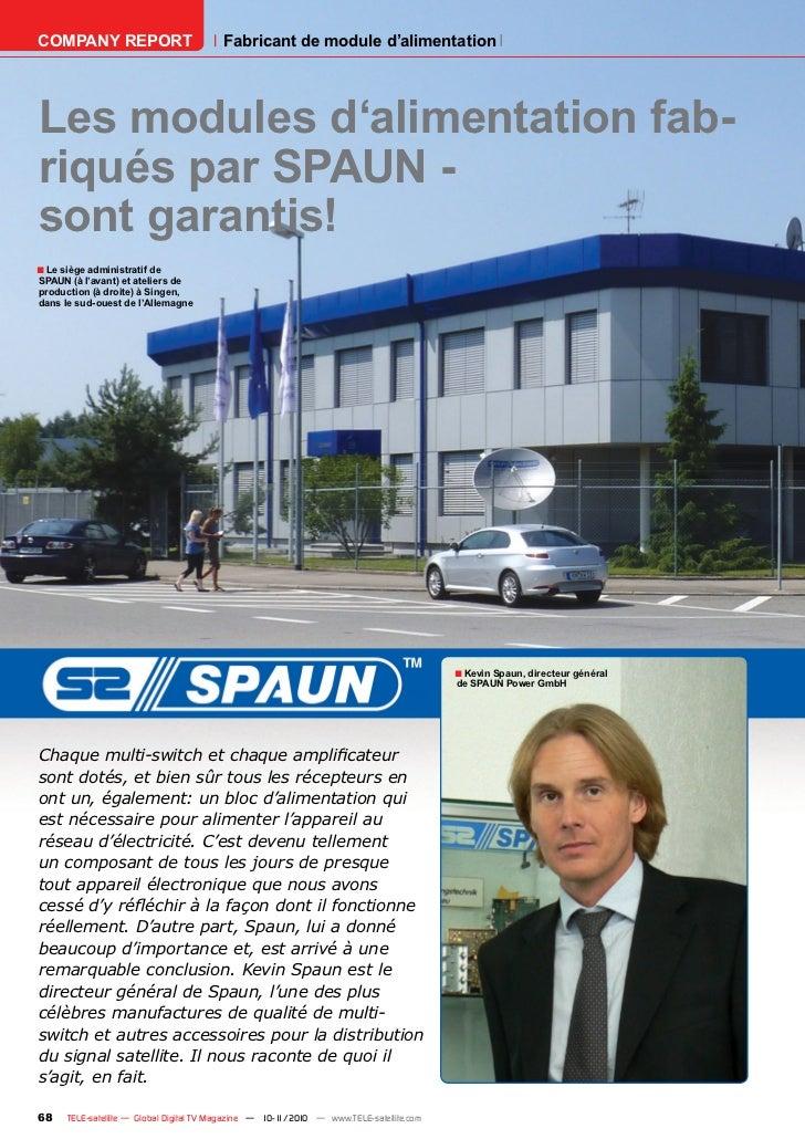 COMPANY REPORT                           Fabricant de module d'alimentationLes modules d'alimentation fab-riqués par SPAUN...