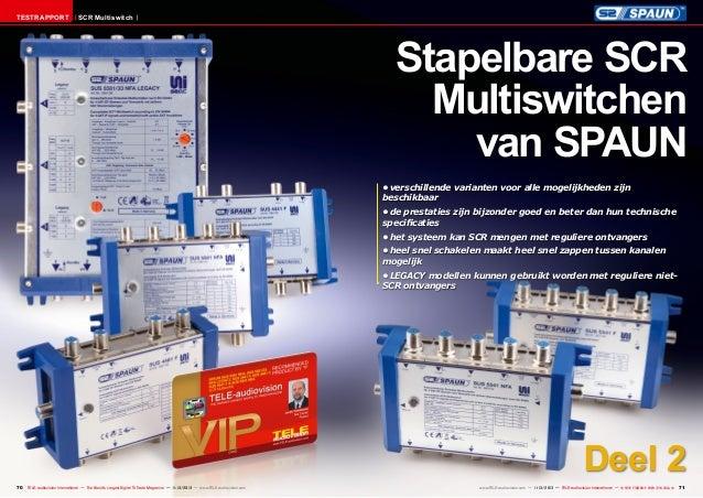 Testrapport  SCR Multiswitch  Stapelbare SCR Multiswitchen van SPAUN •verschillende varianten voor alle mogelijkheden zij...