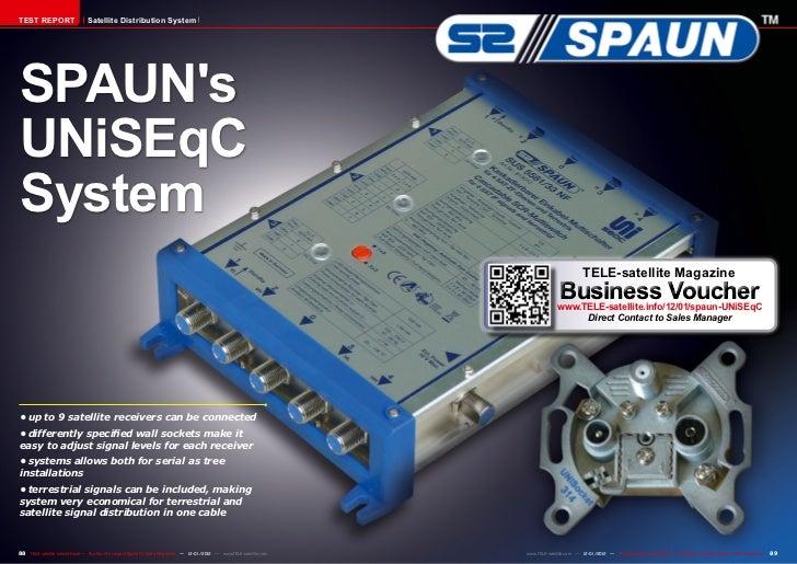 TEST REPORT                     Satellite Distribution SystemSPAUNsUNiSEqCSystem                                          ...