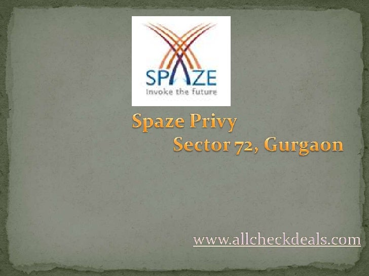 Spaze Privy Lavish Apartments in Gurgaon