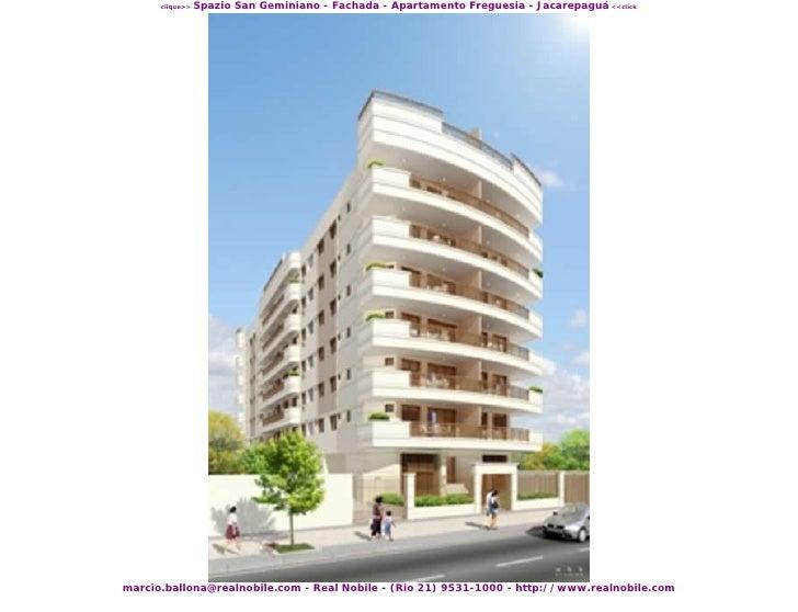 Imoveis na planta Freguesia (21)99531-1000 Spazio San Geminiano Real Nobile