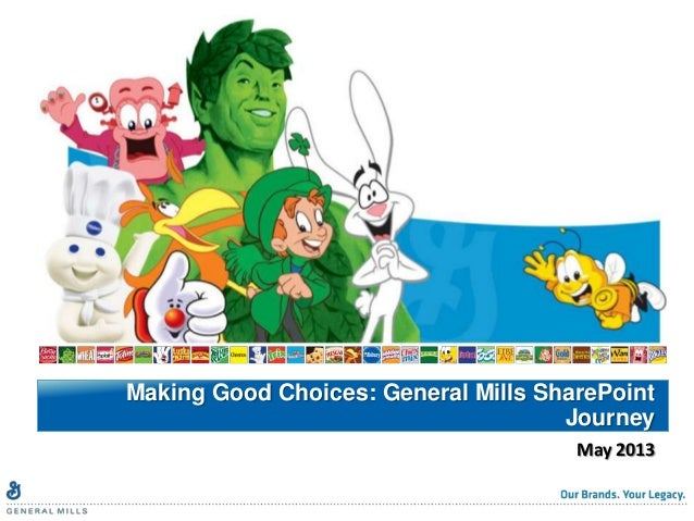 May 2013Making Good Choices: General Mills SharePointJourney