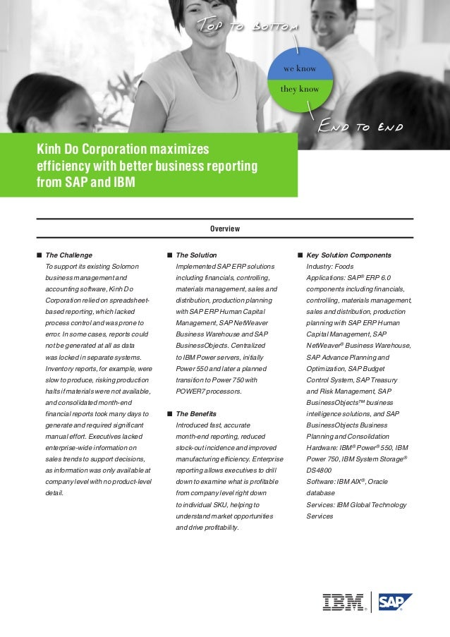 Kinh Do Corporation maximizes efficiency with better business reporting from SAP and IBM