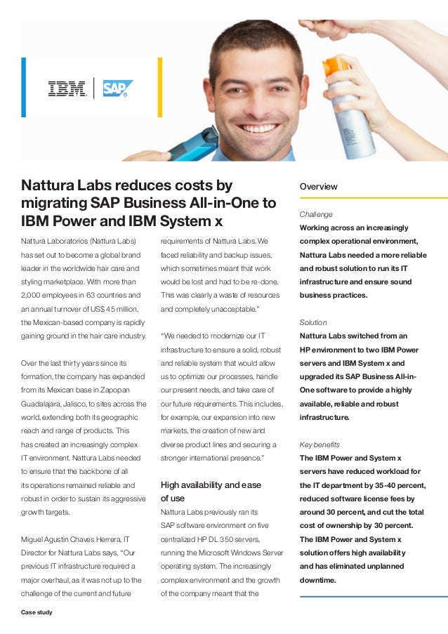 Nattura Labs reduces costs by                                                          Overviewmigrating SAP Business All-...