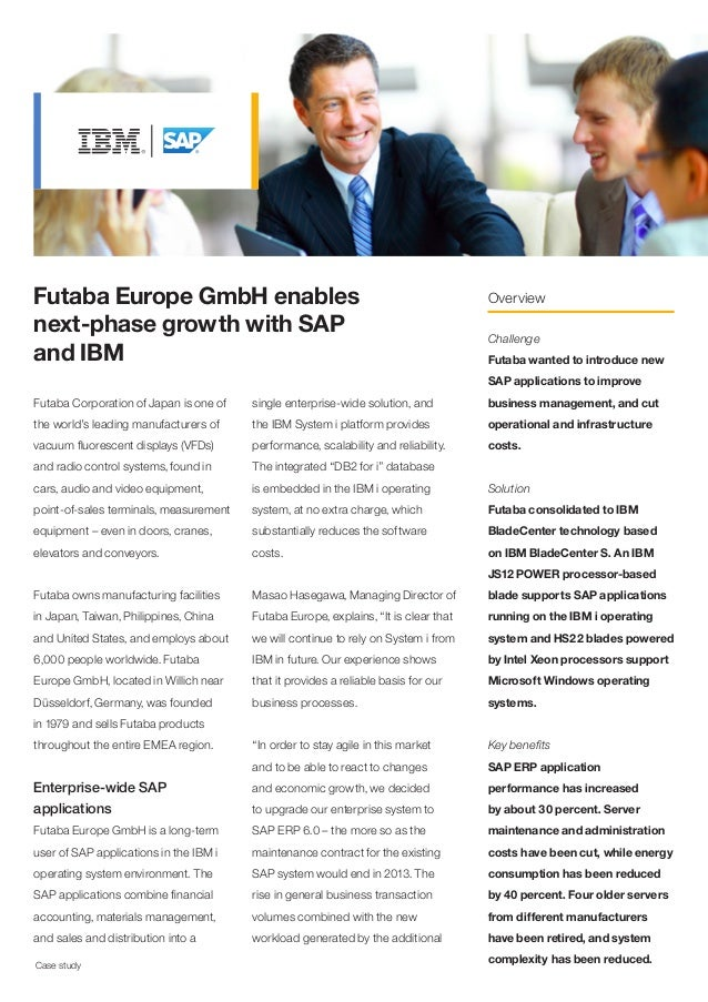 Futaba Europe GmbH enables next-phase growth with SAP and IBM