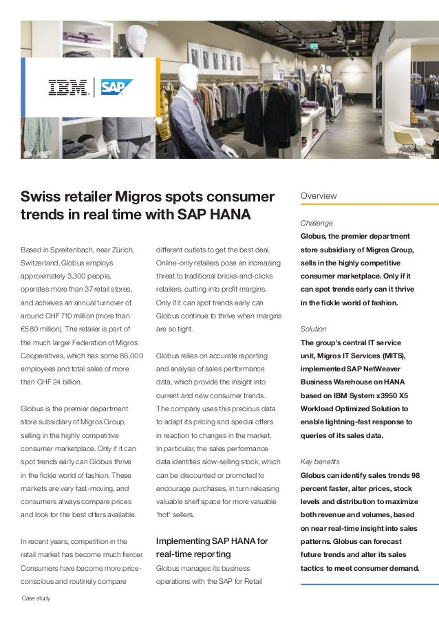 Swiss retailer Migros spots consumer trends in real time with SAP HANA