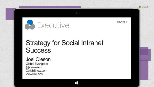 Strategy for Social Intranet Success