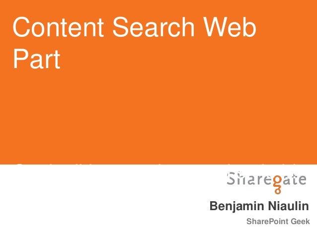 SPCA2013 - Content Search Web Part