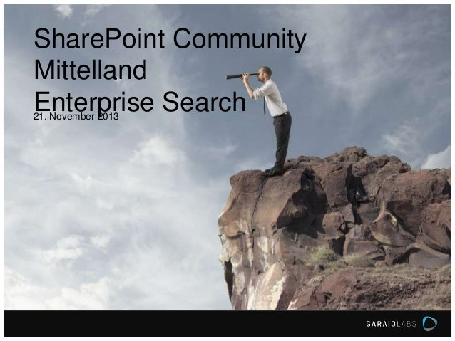 SharePoint Community Mittelland - GARAIO : Enterprise Search