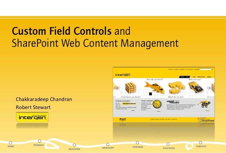 SharePoint Custom Field Controls