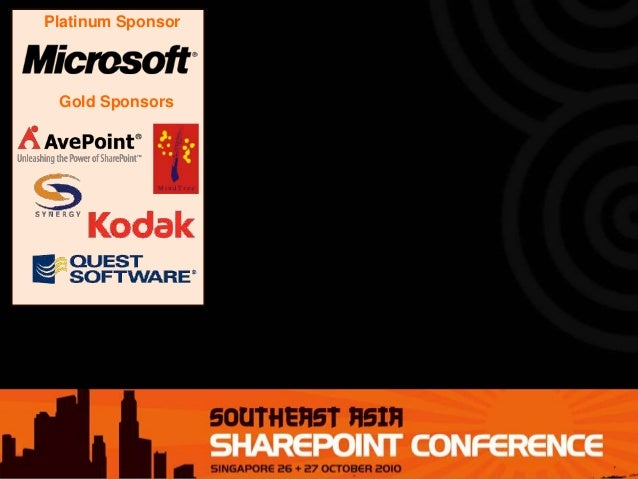 Experiences with two AsiaPacific-wide SharePoint Deployments - SharePoint Conference Southeast Asia