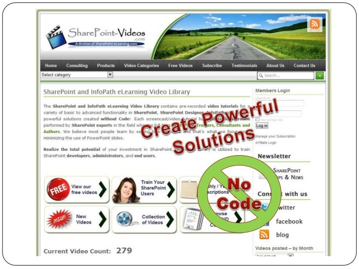 SharePoint-Videos.com Facts Each video is fully narrated by SharePoint experts Video length – average of 10 - 15 mins   ...