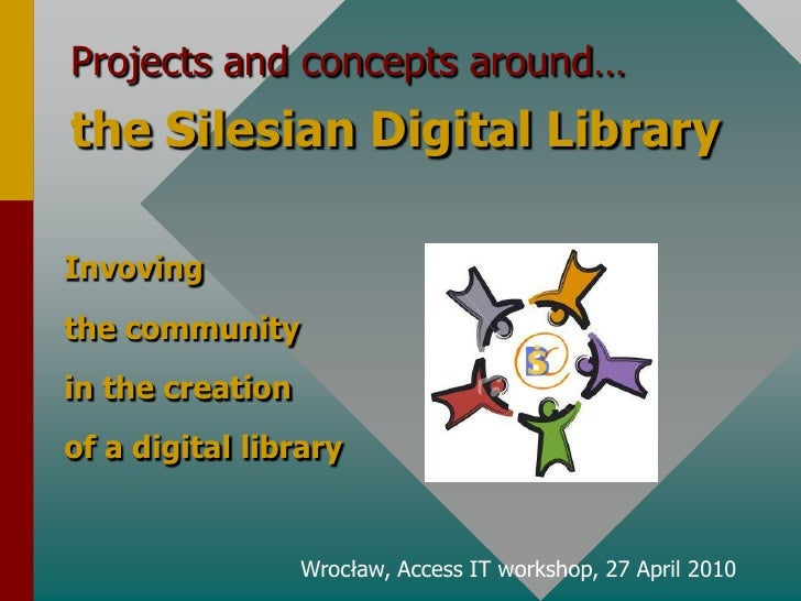 Projects and conceptsaround…<br />theSilesian Digital Library<br />Invoving<br />the community <br />inthecreation<br />of...