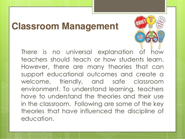 classroom management paper The first impressions about a teacher and classroom management come from the way the teacher has organized the classroom or paper notebook to use.