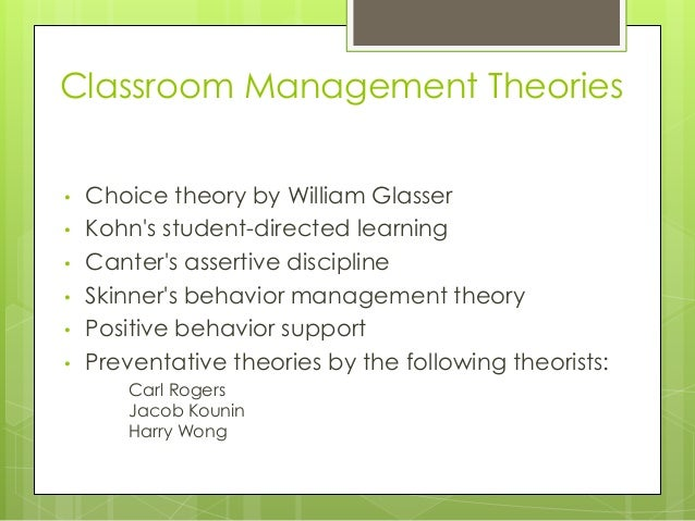 canters behavior management style essay This classroom management style to characterize this style, the canters provide the useful term and responsible behavior the 1-style approach places the.