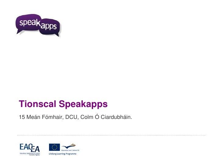 SpeakApps Seminar DCU