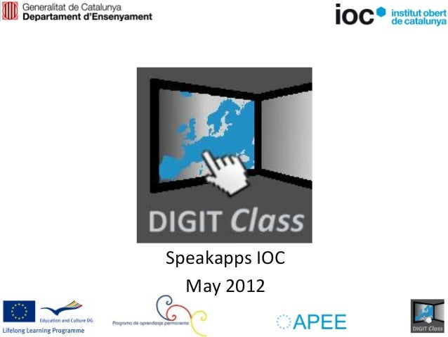 Speakapps IOC  May 2012