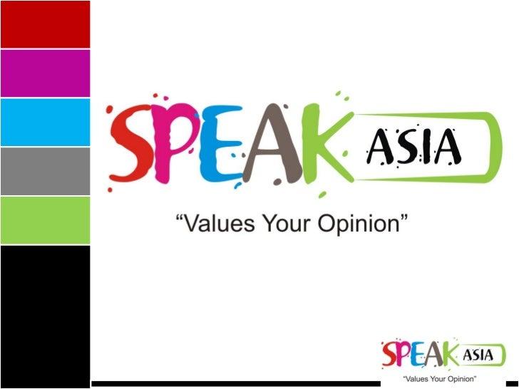 Speak asia corporate presentation