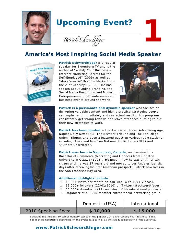 Speaker Information Packet (PDF)
