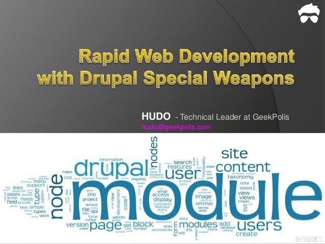 HUDO - Technical Leader at GeekPolishudo@geekpolis.com                                       1