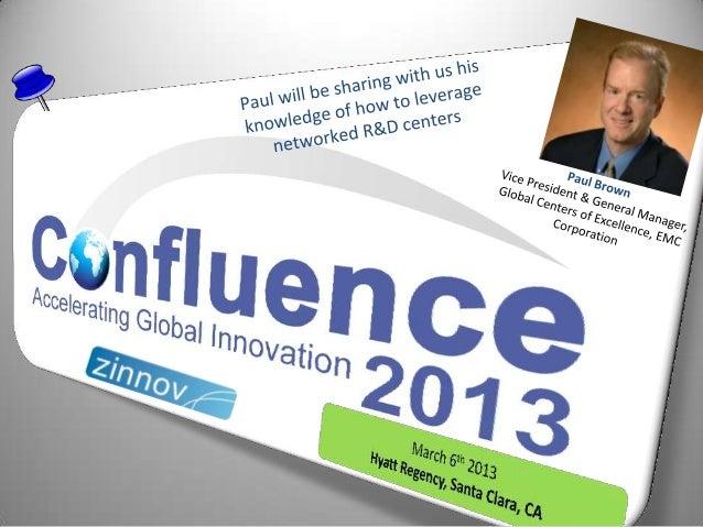 Confluence2013 Speaker Update: Paul Brown