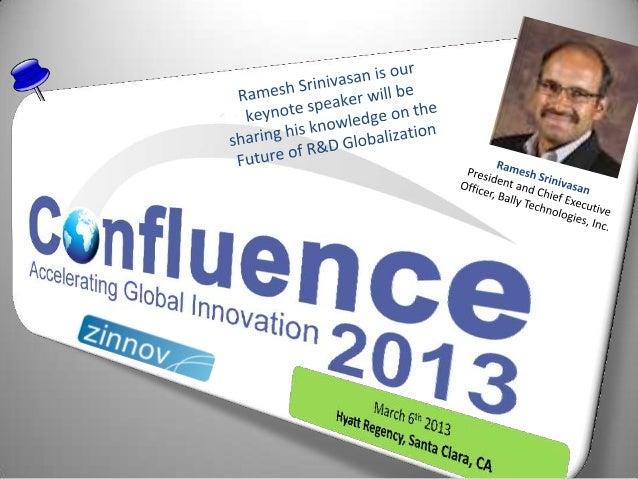 Confluence2013 Speaker Update: Ramesh Srinivasan