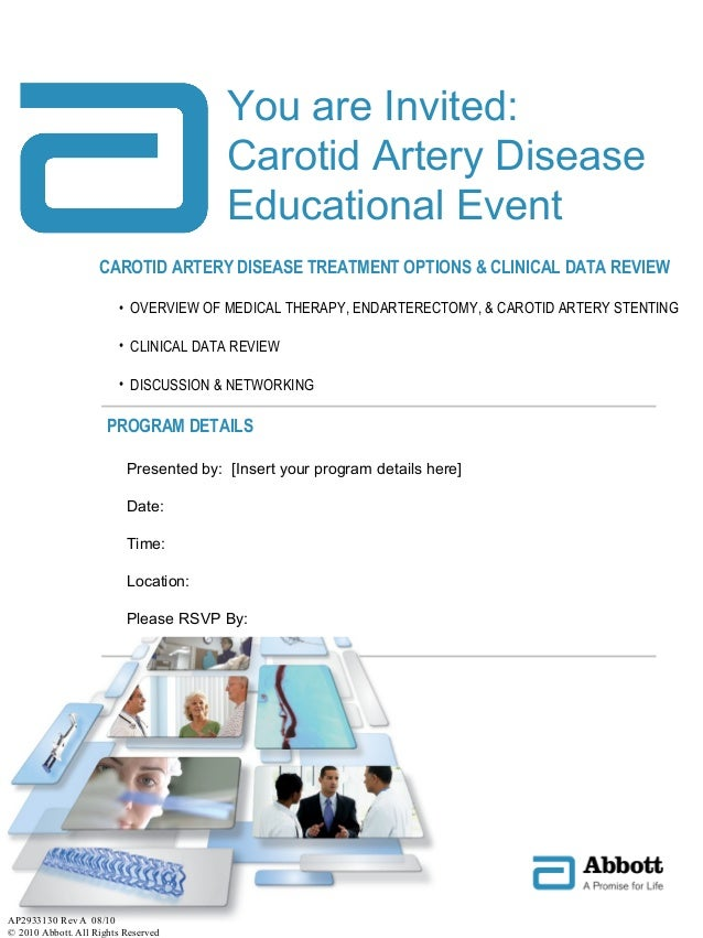 CAROTID ARTERY DISEASE TREATMENT OPTIONS & CLINICAL DATA REVIEW • OVERVIEW OF MEDICAL THERAPY, ENDARTERECTOMY, & CAROTID A...