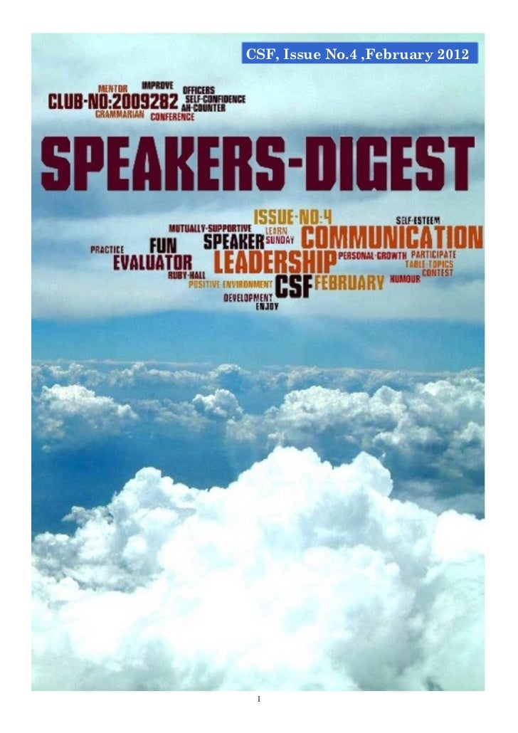 CSF, Issue No.4 ,February 2012 1