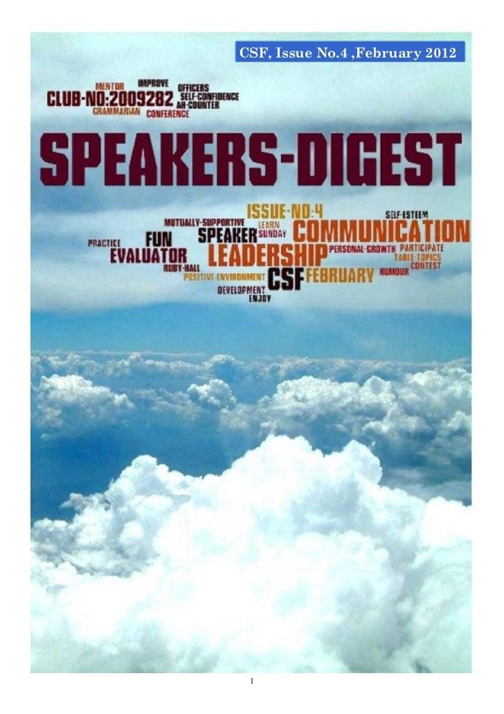 Speakers digest february2012