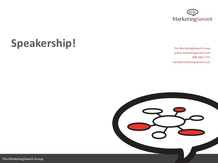 Speakership: Grow Your Career or Business Through Speaking and Thought Leadership