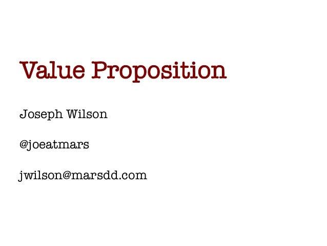 Value Proposition - Entrepreneurship 101 (2013/2014)