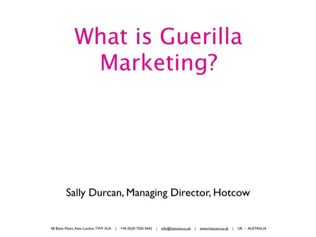 "Sally Durcan talks about guerilla marketing at ""Marketing the art of"" 2010"