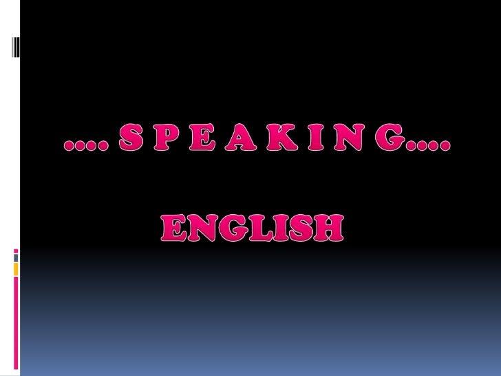 Speaking english 53191020215