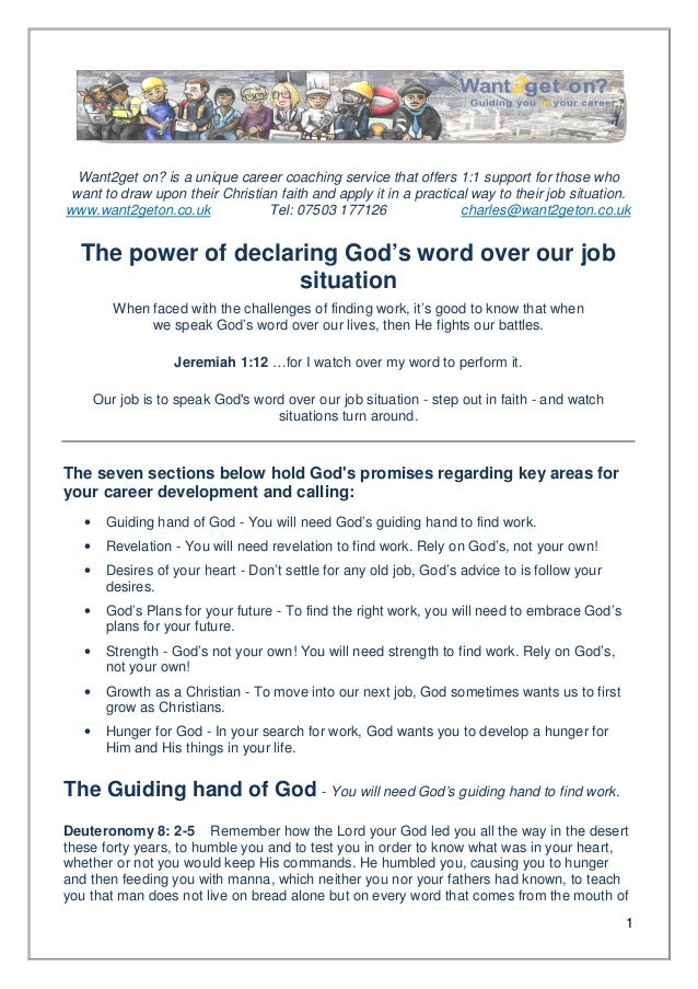 Want2get on? is a unique career coaching service that offers 1:1 support for those who want to draw upon their Christian f...