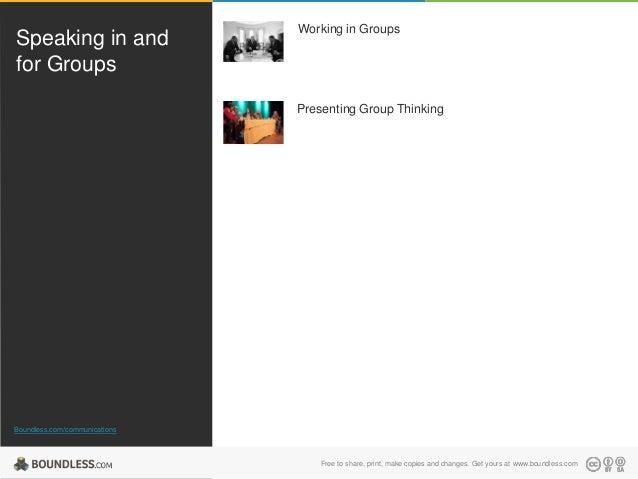 Speaking in Groups
