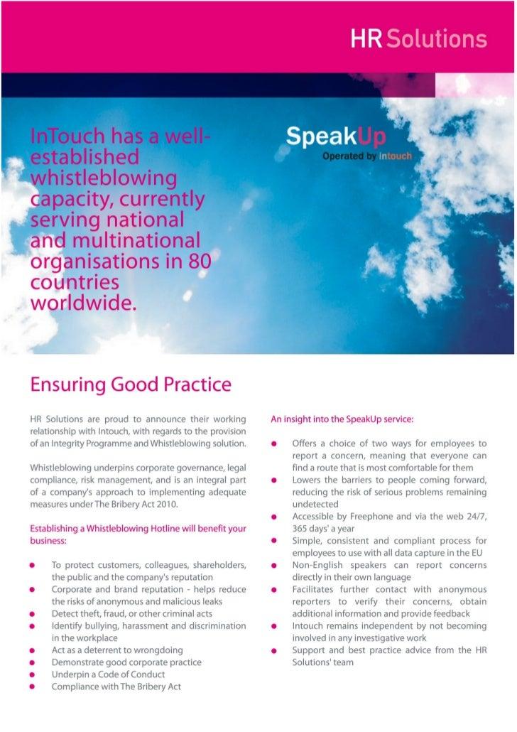 SpeakUp - Integrity Programme